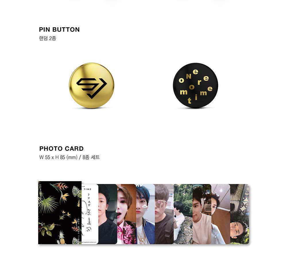 Super Junior - [One More Time] Special Mini Album Limited CD+Booklet+1p Pin Button+8p Photo Card Set K-POP Sealed