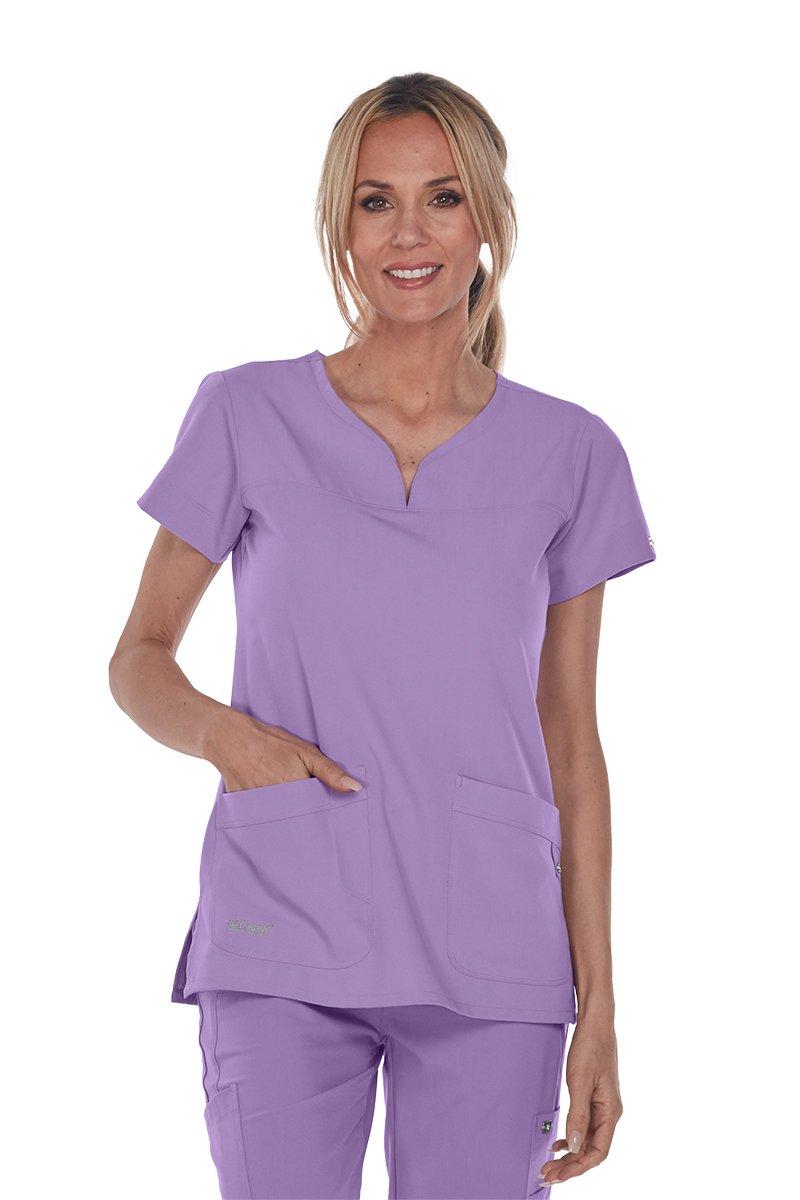 Grey's Anatomy Signature 2121 Notch Neck Top Violet Haze XL