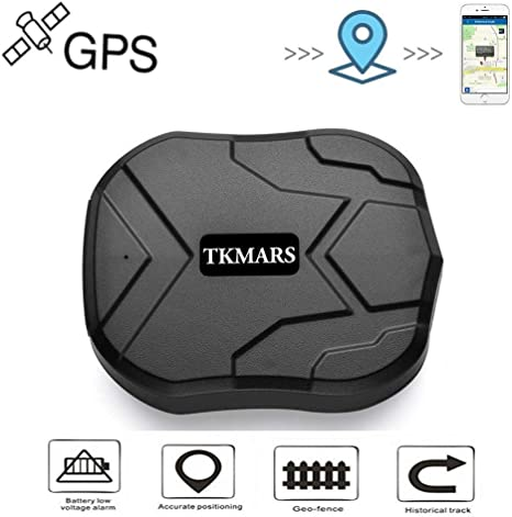 TKMARS Car GPS Tracker for Vehicles 5000mah 90 Days Long Standby GSM Realtime Tracking Device Waterproof with Strong Magnet Realtime GPS Vehicle Tracker