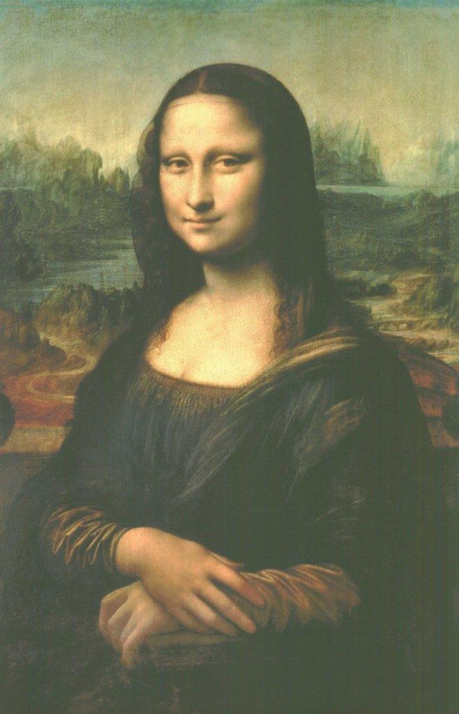 VON LILIENFELD Paraguas autom/ático motivo del arte//con motivo Leonardo da Vinci:Mona Lisa