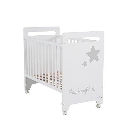 Micuna Istar - Cuna de 120 x 60 cm, color blanco/gris: Amazon.es: Bebé
