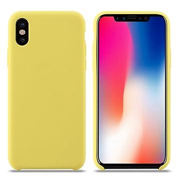 Funda iPhone X, Slim Líquido de Silicona Gel Carcasa Anti-Rasguño y Resistente Huellas Dactilares Totalmente Protectora Caso Cover Case para Apple ...