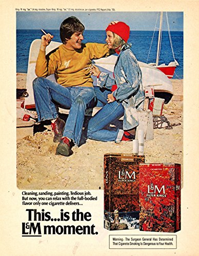 "Vintage L&M Cigarette Magazine Ad - ""This .... is the L&M Moment"""