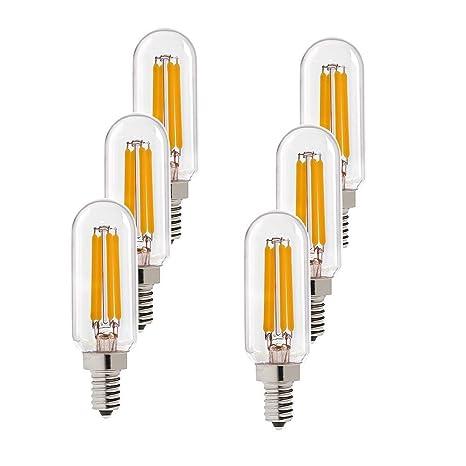 century light - 4w edison led filament tubular bulb, 2700k warm white  400lm, candelabra