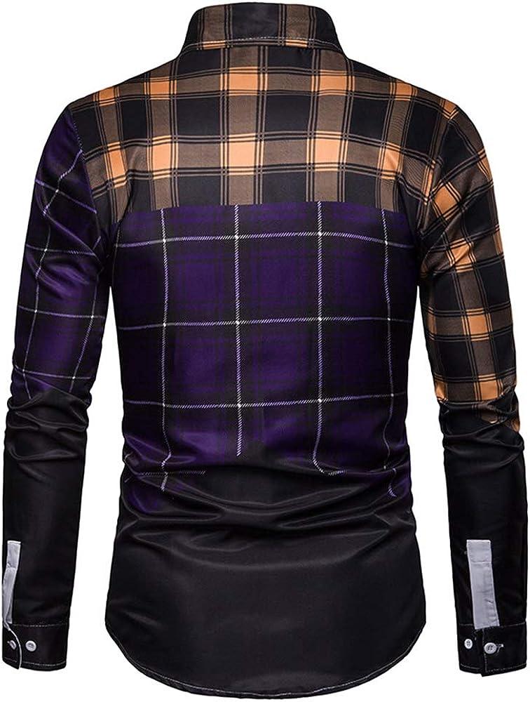qulvyushangmaobu camisa de manga larga de franela para hombre ...