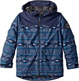 Burton Boys' Phase Jacket, Mood Indigo Saddle Stripe, Medium