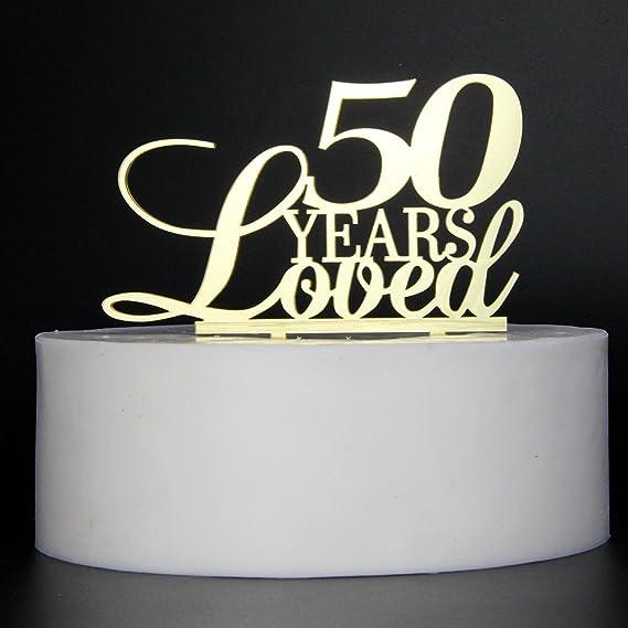 Amazon.com: Lovely Biton Oro Decoración para Tarta para 50 ...