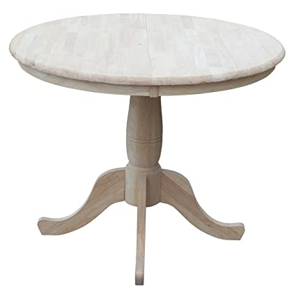 Amazoncom International Concepts Inch Round Extension Dining - 70 inch round pedestal dining table