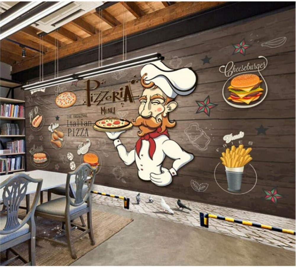 Amazon Com Dalxsh Wood Pizza Restaurant Backdrop Tea Shop Western Restaurant Wallpaper Fast Food Shop Mural Wallpaper 200x140cm Kitchen Dining