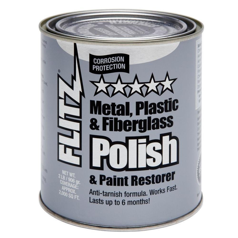 Flitz CA 03518-6 Metal, Plastic and Fiberglass Polish with Paint Restorer, 32-Ounce, Small