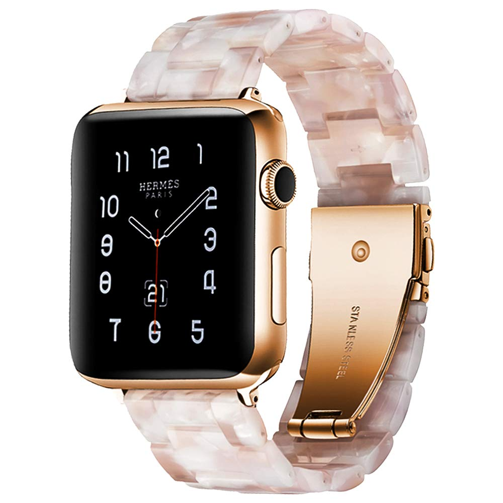 BONSTRAP Resin Watch Band with Metal Buckle 40mm 38mm for Apple Watch Series 4 3 2 1 by BONSTRAP