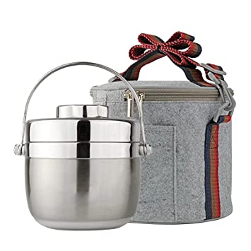 Freahap Boîte Isotherme Repas Chaud avec Sac Isotherme Argent ... 0befd8500ee9
