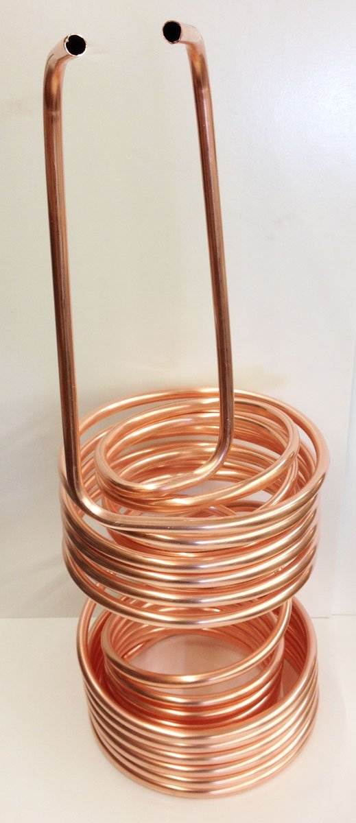 Quick Chill 1/2'' Double (Twin) Coil 5/10 Split Copper Immersion Chiller 50'