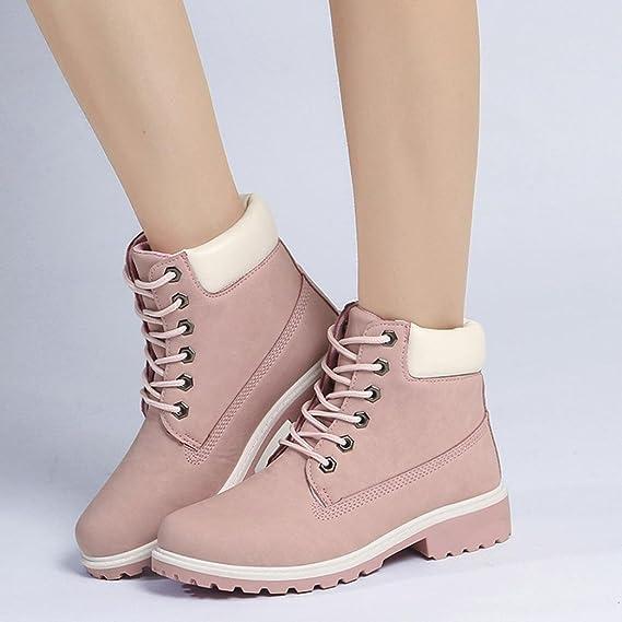 Zapatos de Mujer Señoras Martín Botas Faux Corto Casual Suave Antideslizante Nieve Zapatos Botines LMMVP (38, G): Amazon.es: Hogar