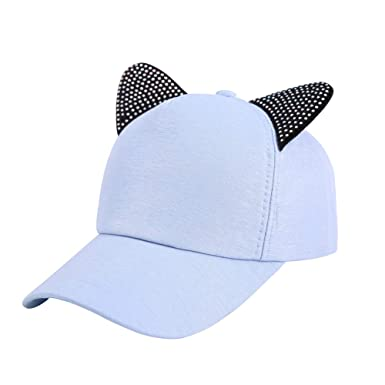 Gysad Forma de Oreja de Gato Gorras Planas Creativo Gorras Mujer Exterior Sombrero Size 54-