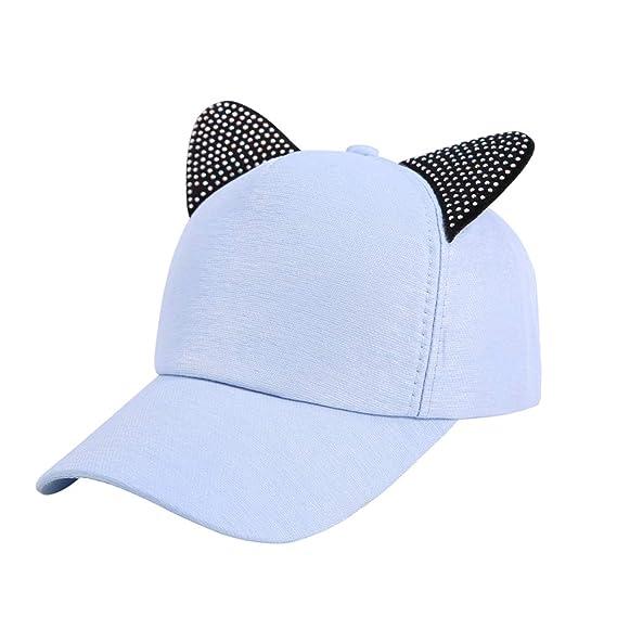 Gysad Forma de Oreja de Gato Gorras Planas Creativo Gorras Mujer Exterior  Sombrero Size 54- b1b84830e67