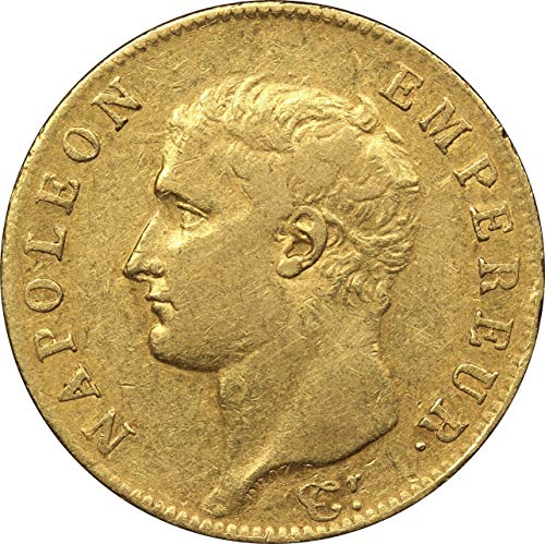 1806 France 20 Francs Gold Coin, Emperor Napoleon Bonaparte, Very Fine - Coins French Gold