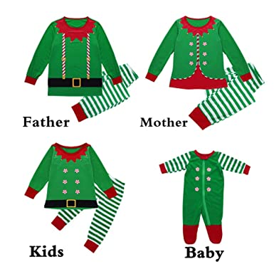 Momangel Christmas Family Matching Long Sleeve Pajamas Set Mum Dad Kids  Baby Xmas Sleepwear Jumpsuit Nightwear eff01a334