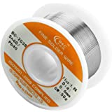 WYCTIN 60-40 Tin Lead Rosin Core Solder Wire for Electrical Solderding and DYI 0.0236 inches(0.6mm) 0.11lbs