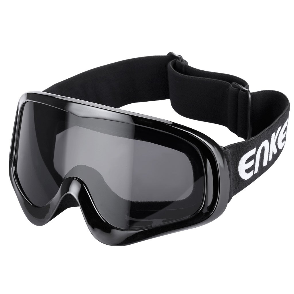 ENKEEO Motorcycle Goggles Anti-Scratch Cycling Googles Dust Proof Bendable Eyewear with Padded Soft Foam, Adjustable Strap for Adults' Cycling Skiing Climbing Shooting Adjustable Strap for Adults' Cycling Skiing Climbing Shooting