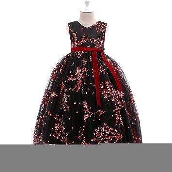 Vestido De Niñas Vestido Estampado Para Niños Falda Larga Vestido ...