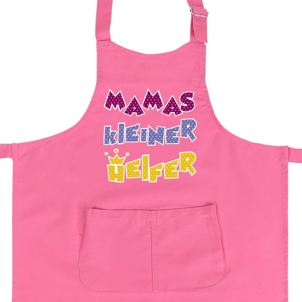 WANDKINGS Kinderschürze Mamas Kleiner Helfer - Wähle Farbe - GRÜN