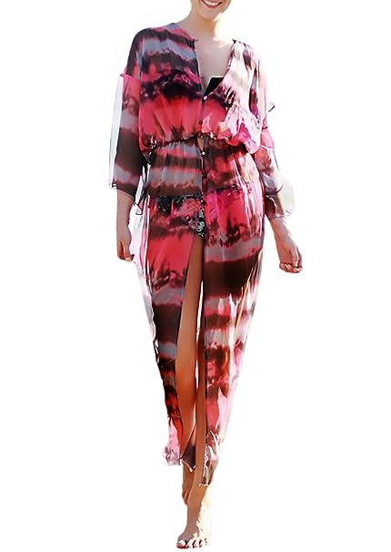 Kimono Mujer Verano Largo Gasa Cardigan Classic Chic Boho ...