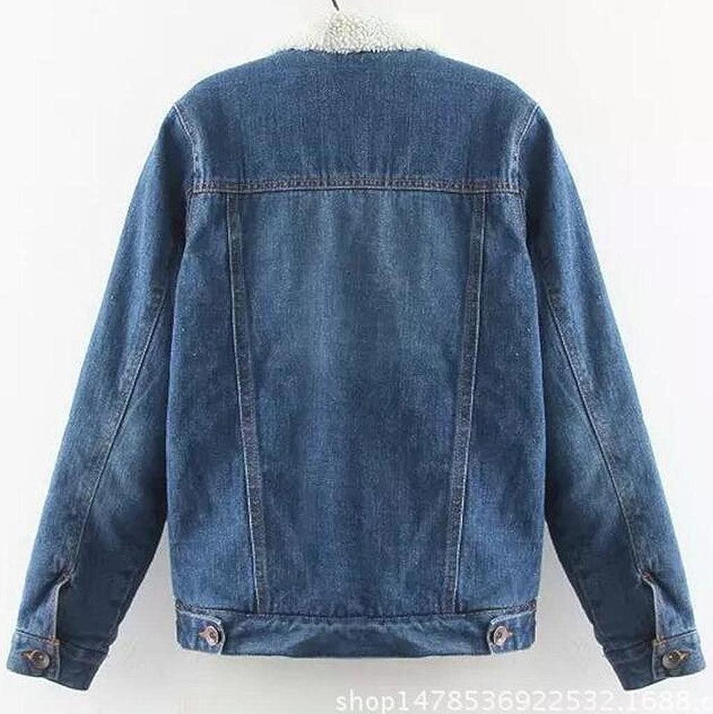 2246b760c9b Fensajomon Womens Faux Fur Lined Denim Jacket Winter Coat Outwear at Amazon  Women s Coats Shop