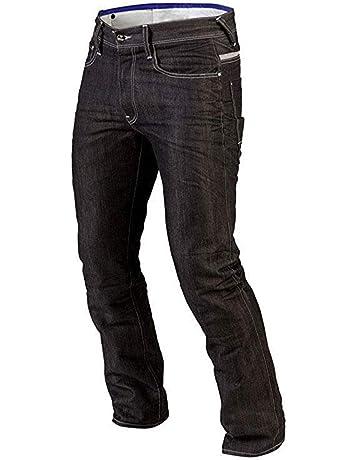 a0925bc20d Juicy Trendz Hombre Motocicleta Pantalones Moto Pantalón Mezclilla Jeans con  Protección Aramida Negro