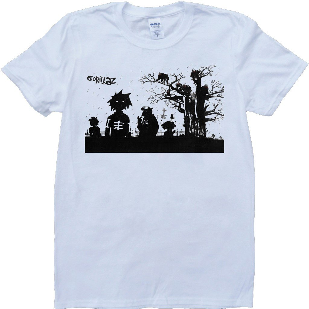 Amazon Brain Dump Tees Gorillaz White Custom Made T Shirt