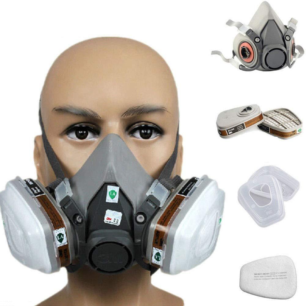 Alftek 7 en 1 Demi Masque Visage pour s'adapter pour 3 m 6200 gaz Spray Peinture Protection respiratoire