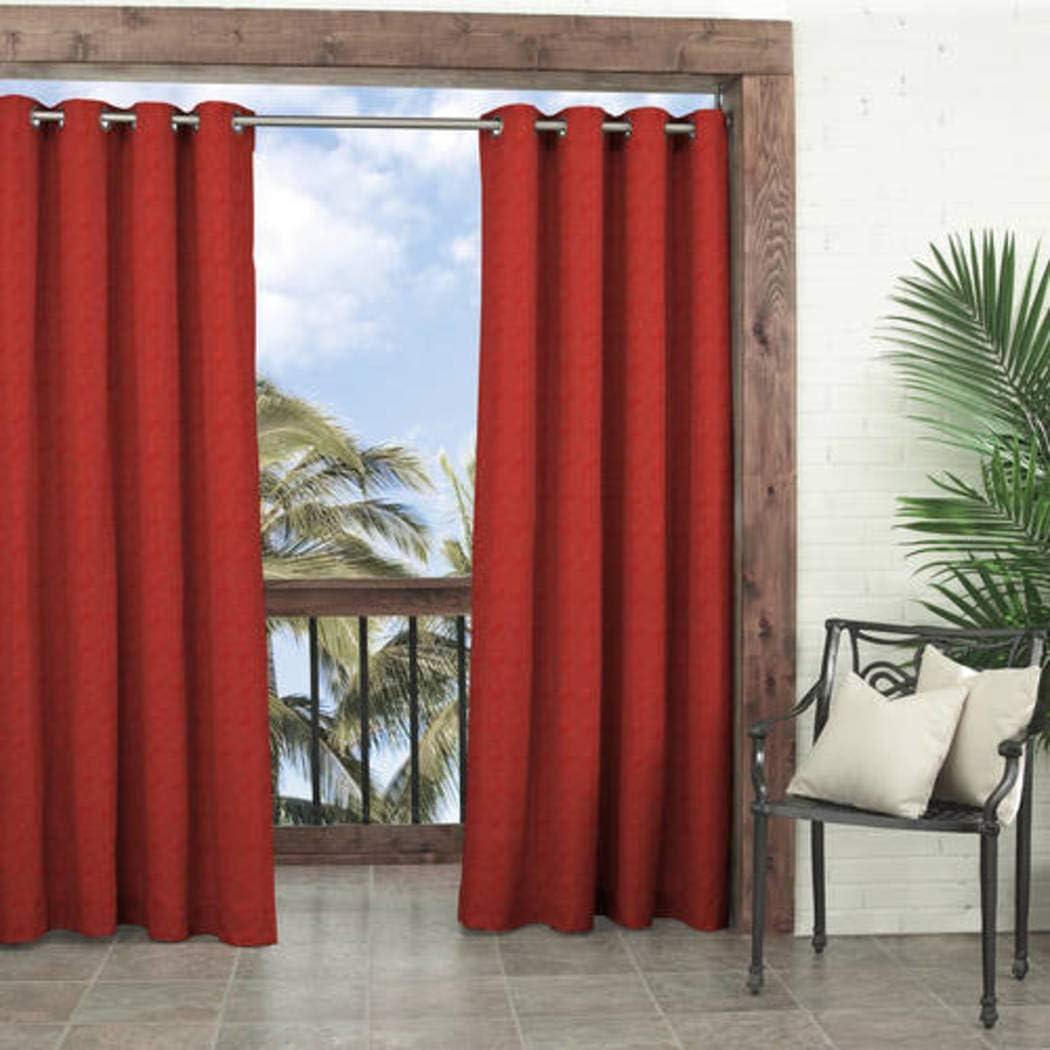 1Pieza 84 – Cenador de exterior Chilli color sólido cortina ...