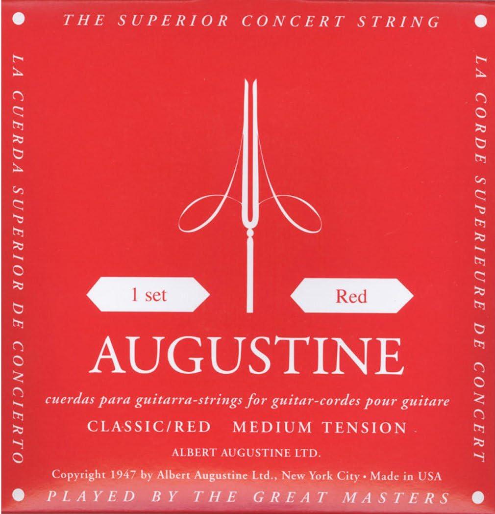 Augustine Cuerdas para Guitarra Clásica, Rojo, Juego, Tensión Medio