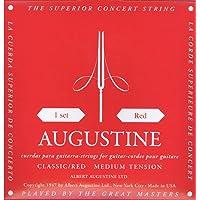 Augustine 7D15 - Juego de cuerdas para guitarra clásica, tensión media, color rojo