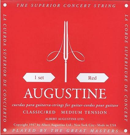 Augustine Cuerdas para Guitarra Clásica, Rojo, Juego, Tensión ...