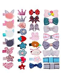 Snap Baby Hair Clips 32pc for Girls No Slip Metal Barrettes Toddlers Kids Women