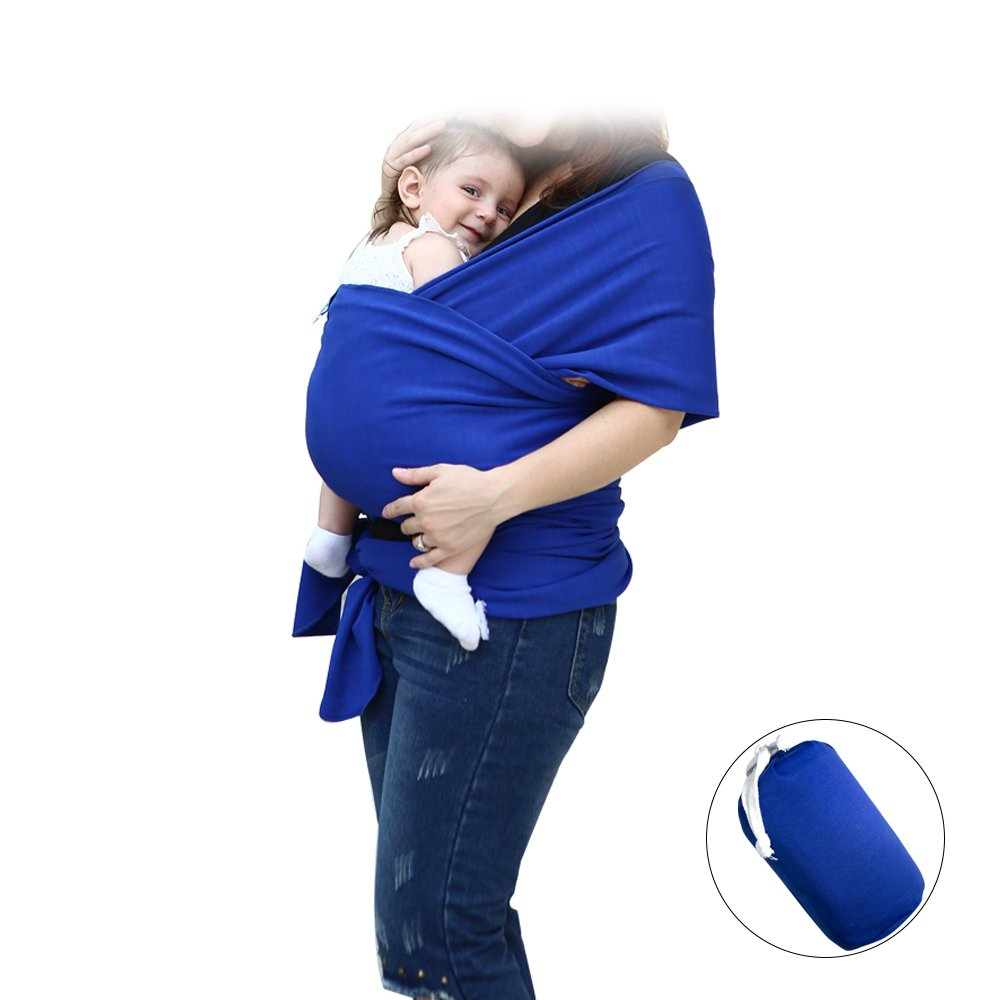 Baby Wrap Carrier, ISHOWDEAL Soft Lightweight Cotton Baby Wraps and Slings Stretchy Baby Slings Breathable Infant Carrier for Infant Newborn Kids and Toddlers