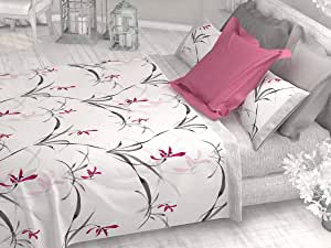 Juego de sábanas 100% algodón Galaxy - Incluye encimera, Bajera y Funda de Almohada - Tacto Suave (Rosa, Cama 135/140cm): Amazon.es: Hogar