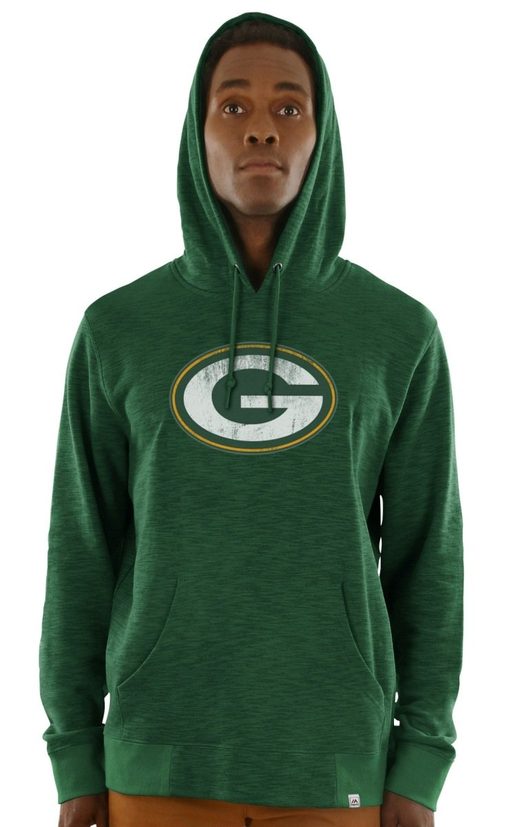Green Bay Packers Majestic NFL Gameday 2 Men's Pullover Hooded SweatShirt Camicia