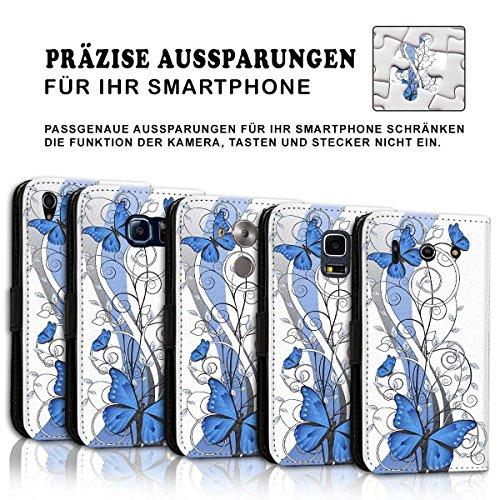 Wallet Book Style Flip Handy Tasche Case Schutz Hülle Schale Motiv Etui für Apple iPhone 6 Plus / 6S Plus - Design Flip MVD419
