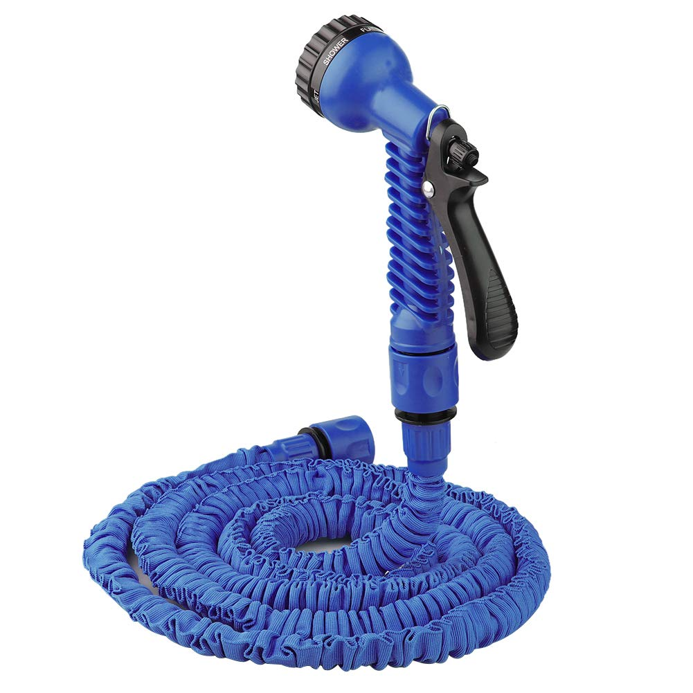 MeiBoAll Expandable Garden Hose, 200FT Flexible Expanding Water Hose with 7 Function Spray Nozzle for Watering Plants, Car Washing, Pets and Cleaning