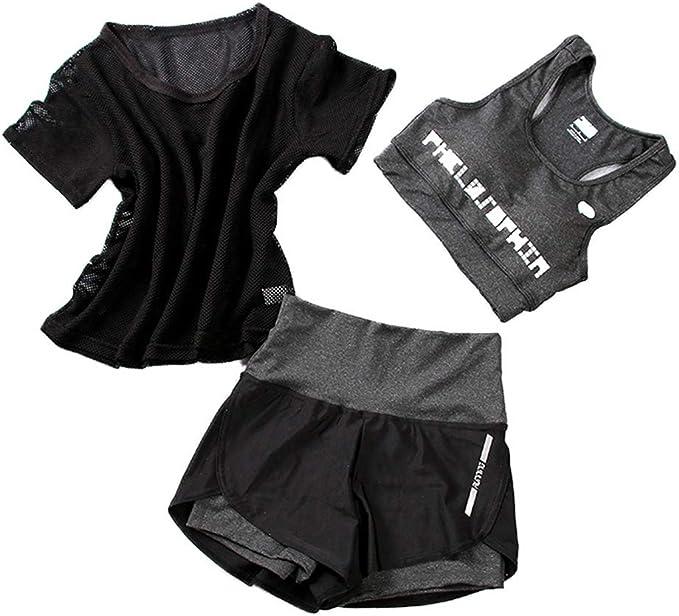 MoDDeals Womans Racerback Sports Bra /& Activewear Boy Short Set Assorted Color 6 Pack