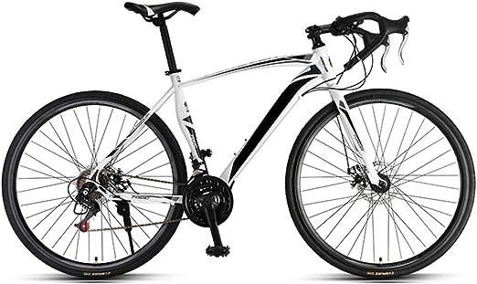 HRUI Bicicleta de Carreras, Cuadro de Aluminio 700C, 21 Marchas ...