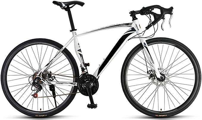 HRUI Bicicleta de Carreras, Cuadro de Aluminio 700C, 21 Marchas, Cambio Shimano Gravel Bike para Hombre y Mujer.: Amazon.es: Hogar