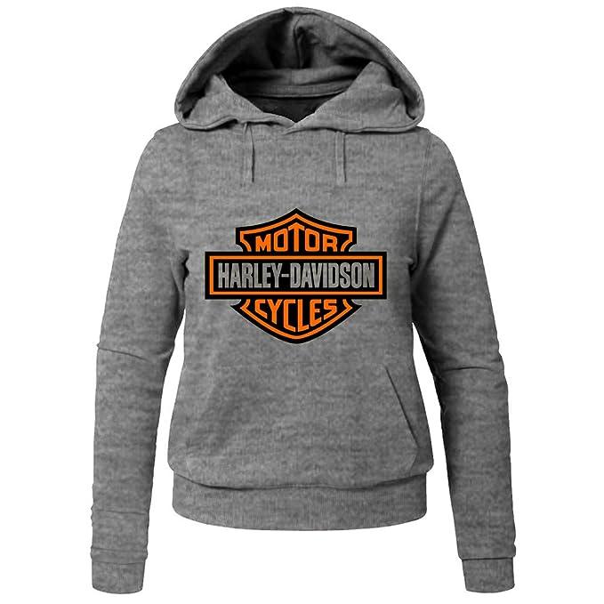 Harley Davidson Hoodies -Chaqueta Mujer Gris XXL: Amazon.es ...