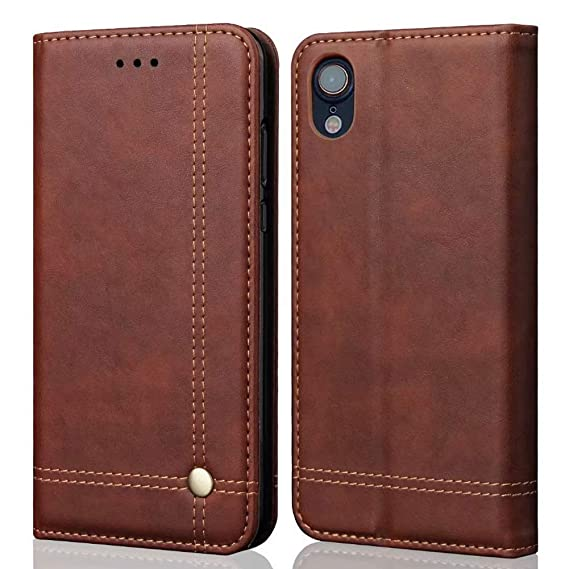 the best attitude 3ea48 a66e1 Mayround Compatible for iPhone XR Leather Case,PU Leather Flip Wallet Phone  Cover Credit Card Holder Slot Money Pouch Wallet Case with Stand Function  ...