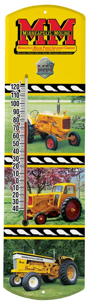 Heritage America by MORCO 375TMM Tractor-Minn. Moline Outdoor or Indoor Thermometer, 20-Inch