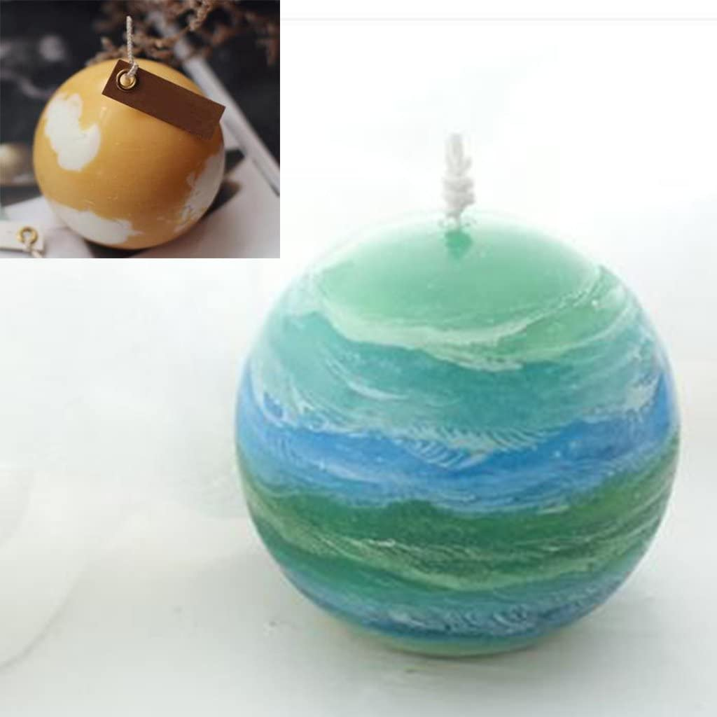 Round Sphere Candle Mold Soap Mould for Handmade DIY Candle Making 30mm