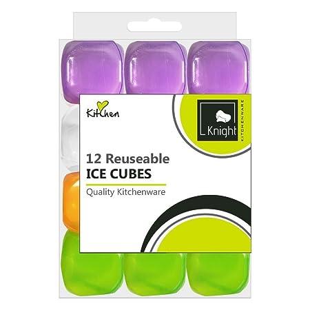 12 unidades plástico reutilizable cubitos de hielo congelado frío ...