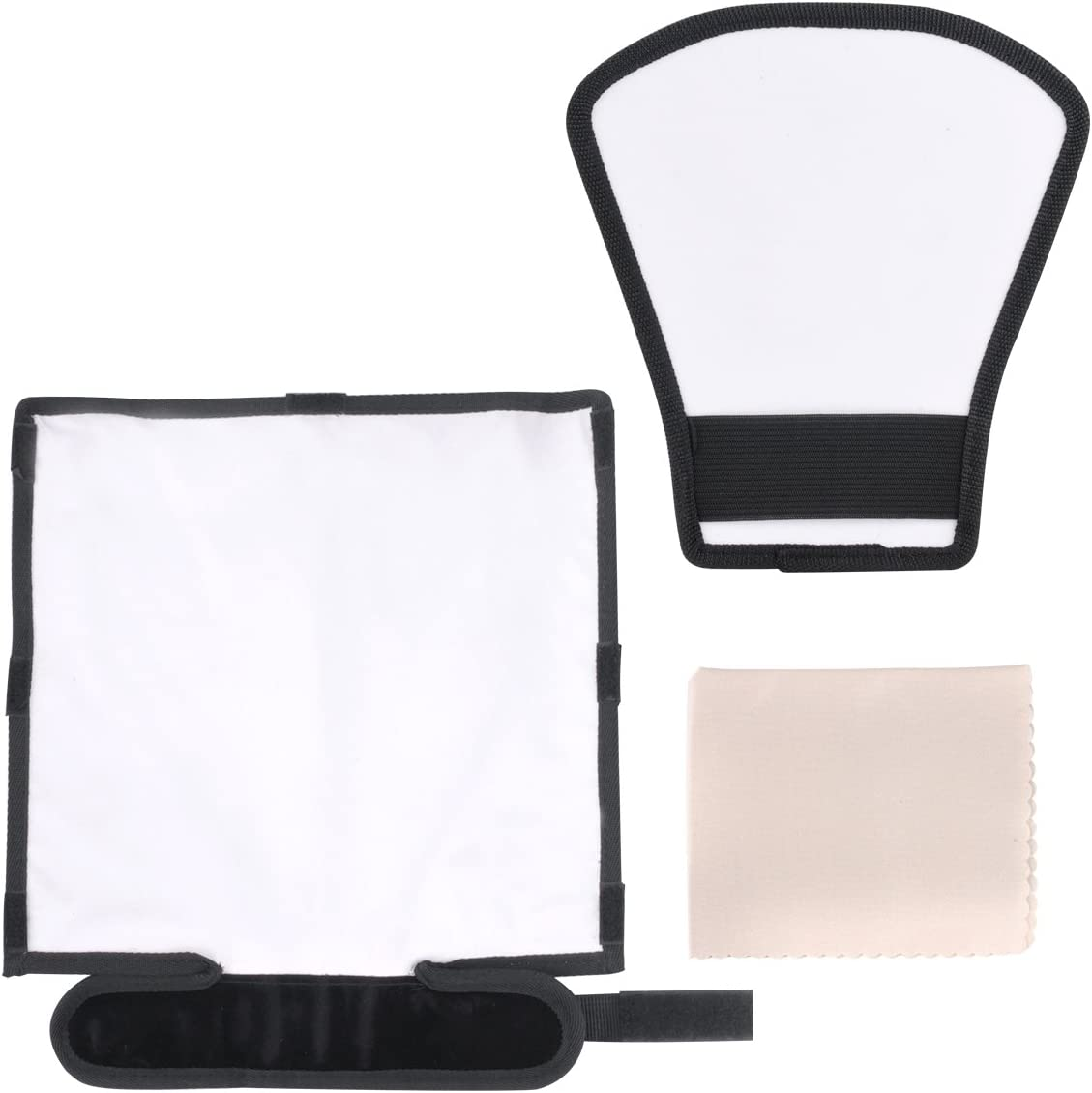Silver//White Reflector Veatree Flash Diffuser Reflector Kit Bend Bounce Positionable Diffuser Universal Mount for Canon Yongnuo Nikon and Other Speedlight